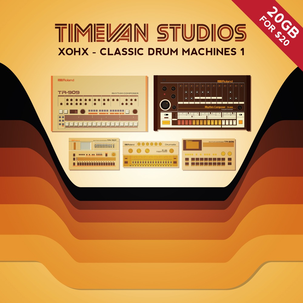 Xohx classic drum machine samples by timevan studios for Classic house vocal samples