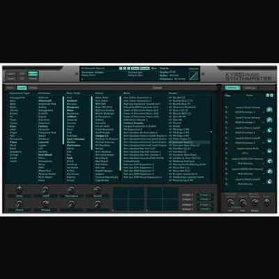 KV331 Audio Synthmaster everything